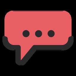 Sprechblase-Kontaktsymbol