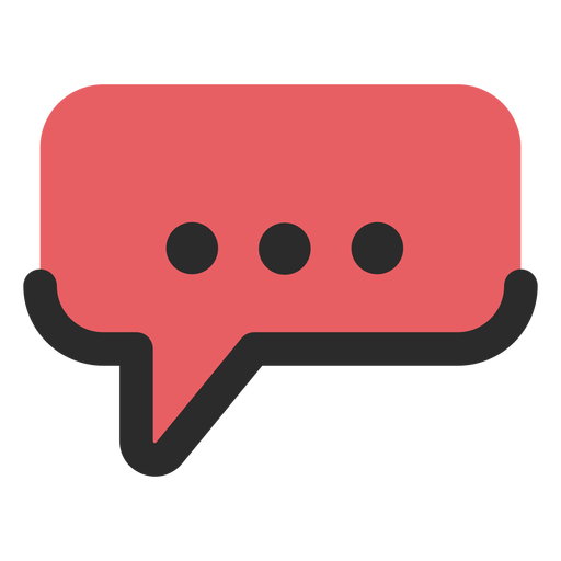 Speech bubble contact icon Transparent PNG