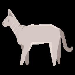 Ilustração geométrica de gato Sphynx