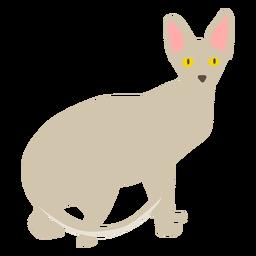 Ilustração de gato Sphynx