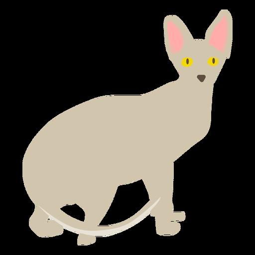 Ilustración del gato Sphynx Transparent PNG