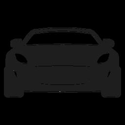 Silhueta de vista frontal de carro esporte