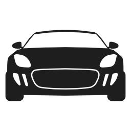 Sport car front view silhouette
