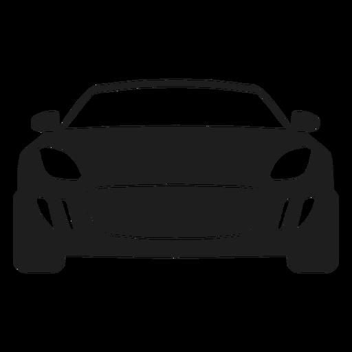 Silueta de vista frontal de coche deportivo Transparent PNG