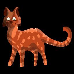 Ilustração de gato malhado