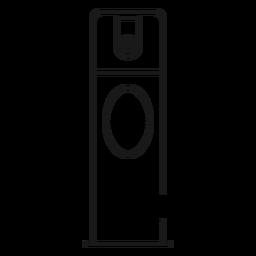 Spray desodorante icono de trazo