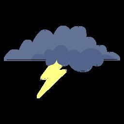 Icono de previsión de nube de tormenta