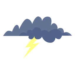 Storm cloud forecast icon