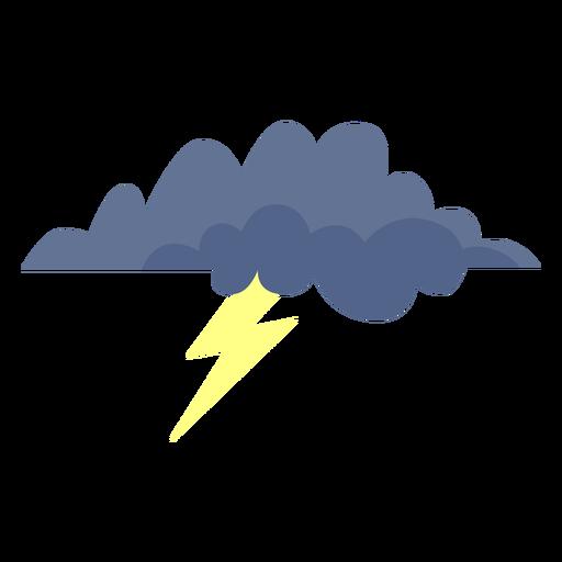 Icono de previsión de nube de tormenta Transparent PNG