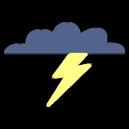 Icono de nube de clima tormentoso