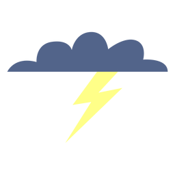 Stormy weather cloud icon