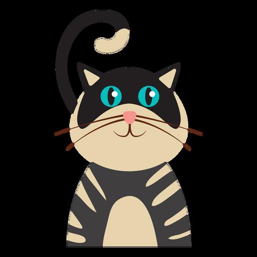 Gato rayado avatar Transparent PNG