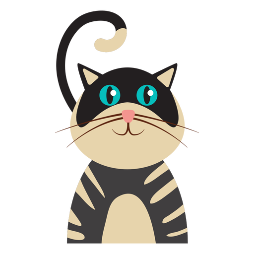 Striped cat avatar Transparent PNG