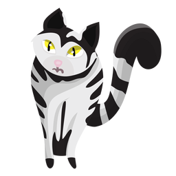 Striped cat illustration