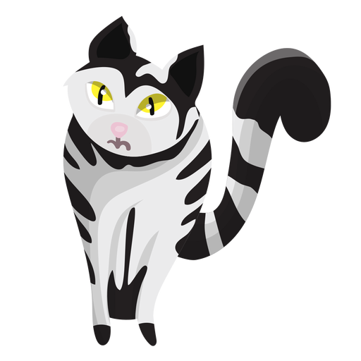 Ilustração de gato listrado Transparent PNG