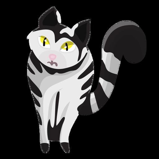 Striped cat illustration Transparent PNG