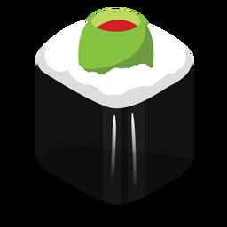 Icono de rollo de sushi de oliva relleno