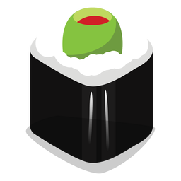 Stuffed olive sushi roll icon