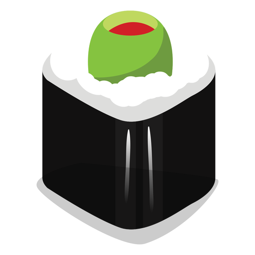 Stuffed olive sushi roll icon Transparent PNG