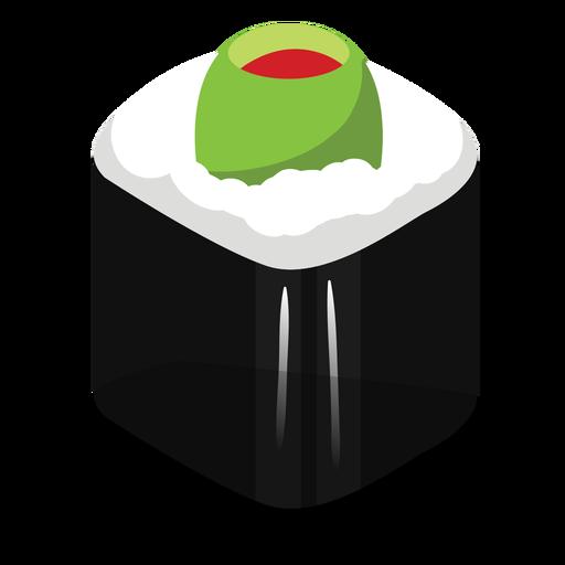 Stuffed olive sushi roll icon