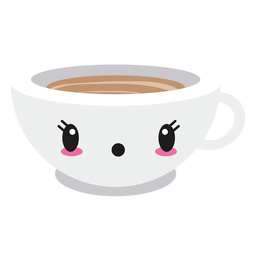 Surprised kawaii face coffee cup
