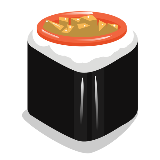 Sushi roll icon Transparent PNG