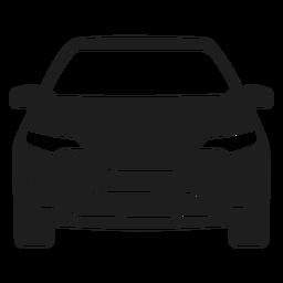 Silhueta de vista frontal de carro Suv