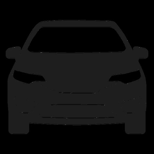 Silueta de vista frontal de coche SUV Transparent PNG