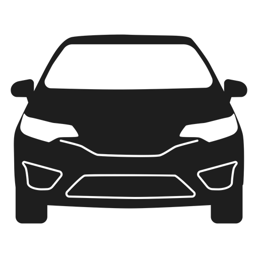 Suv car front view silhouette