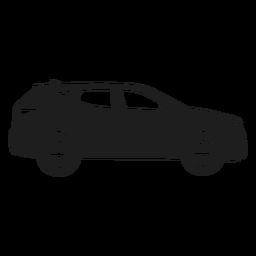 Silueta de vista lateral de coche SUV