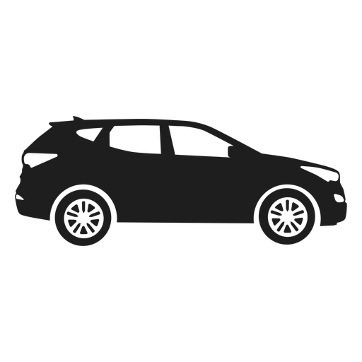 Suv car side view silhouette