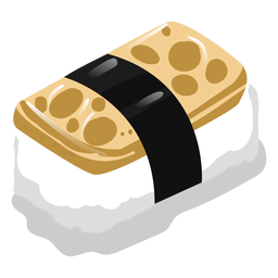 Tamago egg sushi icon