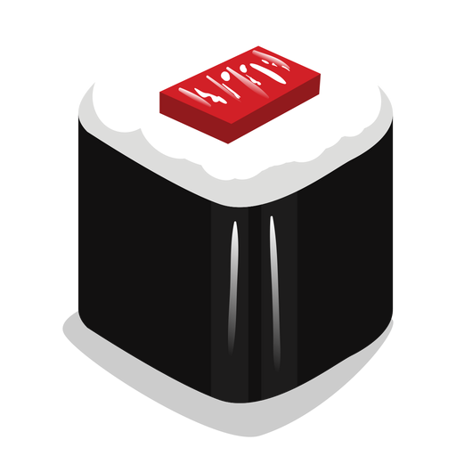 Tekka maki tuna sushi icon Transparent PNG