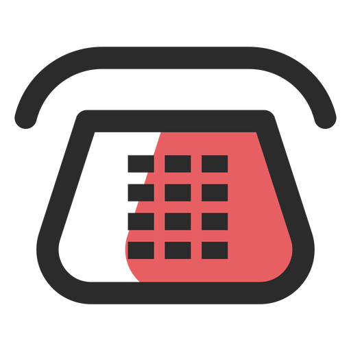 Telephone contact icon Transparent PNG