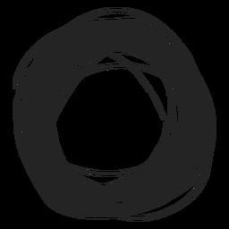 Kritzeleien mit dickem Kreis