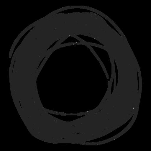 Garabato de círculo grueso Transparent PNG