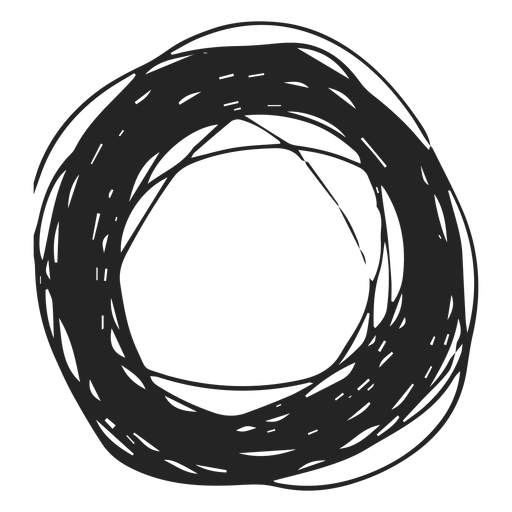 Thick circle scribble Transparent PNG