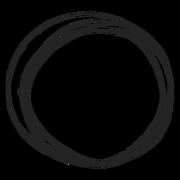 Garabato de círculo delgado