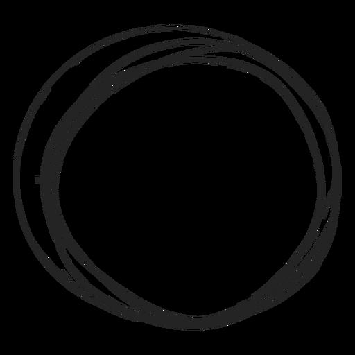 Garabato de círculo delgado Transparent PNG