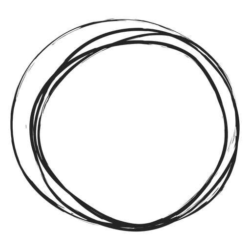 Thin circle scribble Transparent PNG
