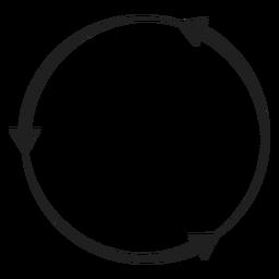 Círculo de três flechas