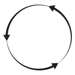 Three arrows circle