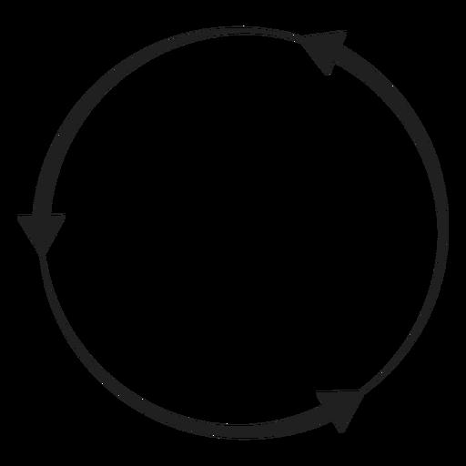 Circulo de tres flechas Transparent PNG