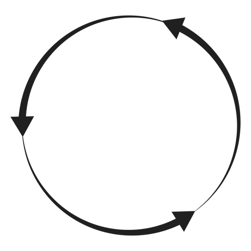 Three arrows circle Transparent PNG