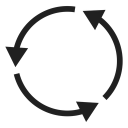 Three thin arrows circle