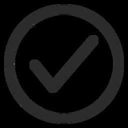 Ícone de traço de marca de seleção de carrapato