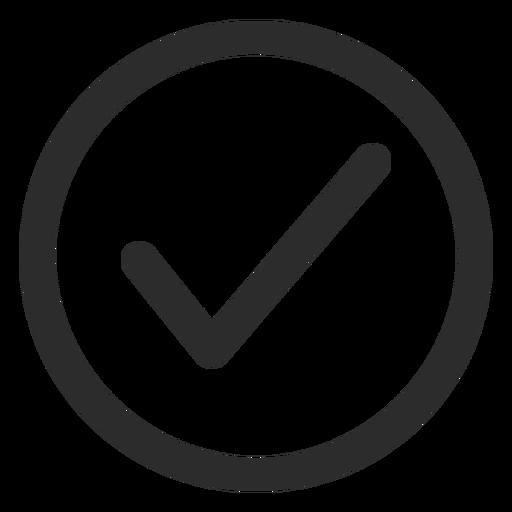 Ícone de traço de marca de seleção de carrapato Transparent PNG