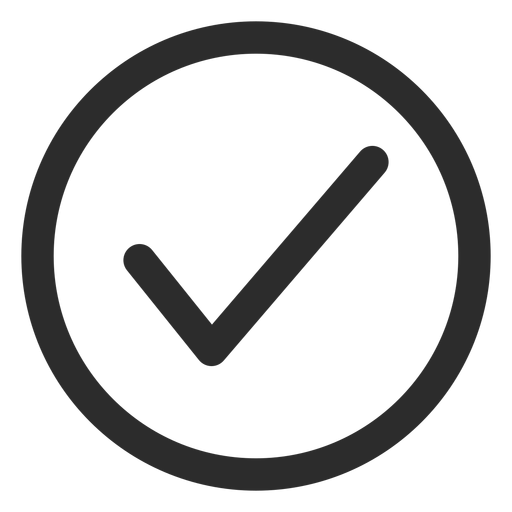 Tick check mark stroke icon Transparent PNG