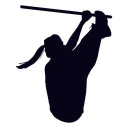 Dedos a la barra de silueta crossfit