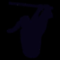 Dedos para barrar a silhueta crossfit